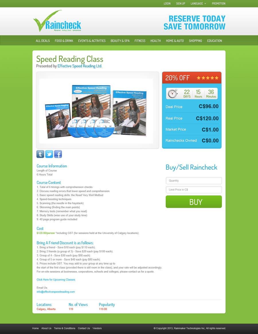 Penyertaan Peraduan #                                        16                                      untuk                                         Website Design for Raincheck