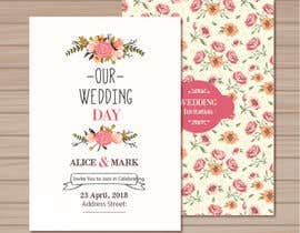 n000m444n tarafından Need three themes created for a wedding invite package. Think pretty, water colour, and can be simple but elegant.  Invite size - A5 148x210mm RSVP and save the date - A6 105x148 (portrait or landscape) için no 3