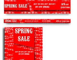 #36 for Design 3 x Banners - For Spring Sale by mahfujaakter11
