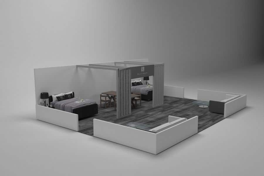 Exhibition Stand Design Competition : Entry by infokader for d design render of exhibition