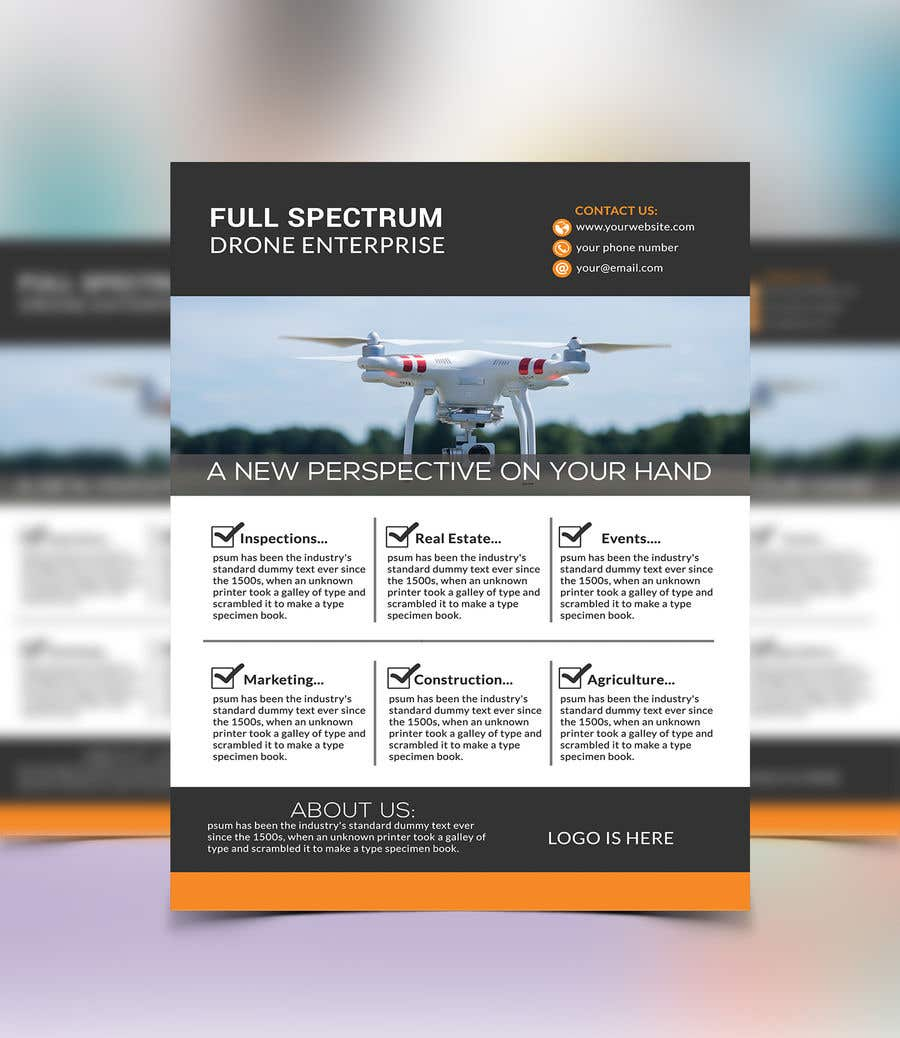 entry 13 by alam669 for simple flier drone company freelancer