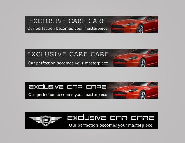 Penyertaan Peraduan #340 untuk Banner Ad Design for Exclusive Car Care
