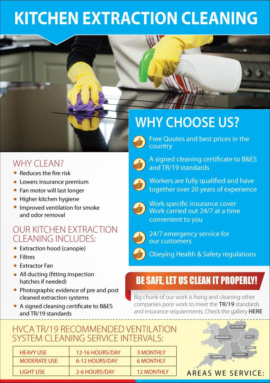 Entry #13 by amcgabeykoon for Design a Flyer for Kitchen cleaning ...
