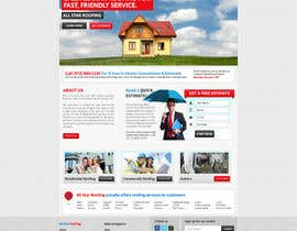 nº 28 pour Website Design for All Star Roofing par MishAMan
