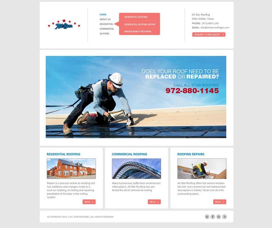 Konkurrenceindlæg #23 for Website Design for All Star Roofing