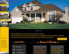 #15 pentru Website Design for All Star Roofing de către marwenos002