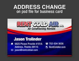 #11 for Address change on .psd file for business card by aly412