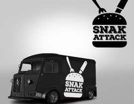 """#21 untuk Logo for food truck name """"Snak Attack"""" Colors not more than three colors oleh FVinas"""