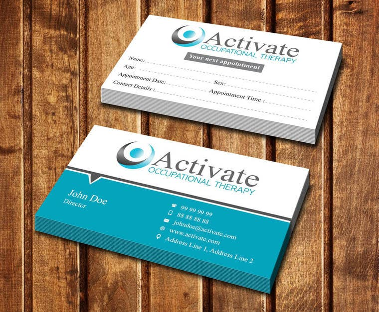 Penyertaan Peraduan #                                        19                                      untuk                                         Design some Business Cards for Activate Occupational Therapy