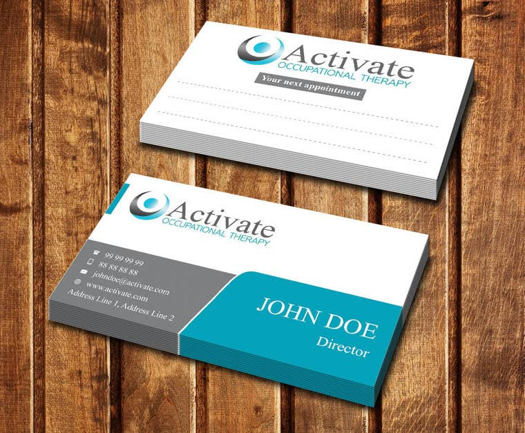 Penyertaan Peraduan #                                        22                                      untuk                                         Design some Business Cards for Activate Occupational Therapy