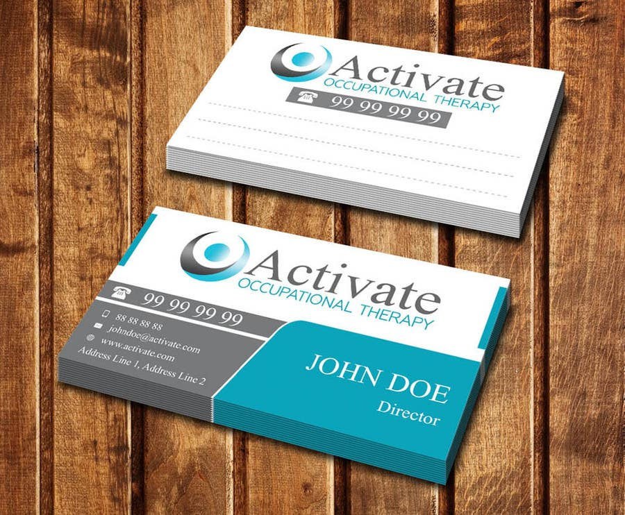 Penyertaan Peraduan #                                        31                                      untuk                                         Design some Business Cards for Activate Occupational Therapy