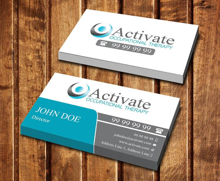 Penyertaan Peraduan #                                        58                                      untuk                                         Design some Business Cards for Activate Occupational Therapy
