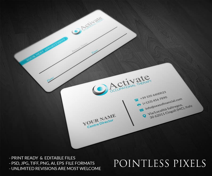 Penyertaan Peraduan #                                        17                                      untuk                                         Design some Business Cards for Activate Occupational Therapy