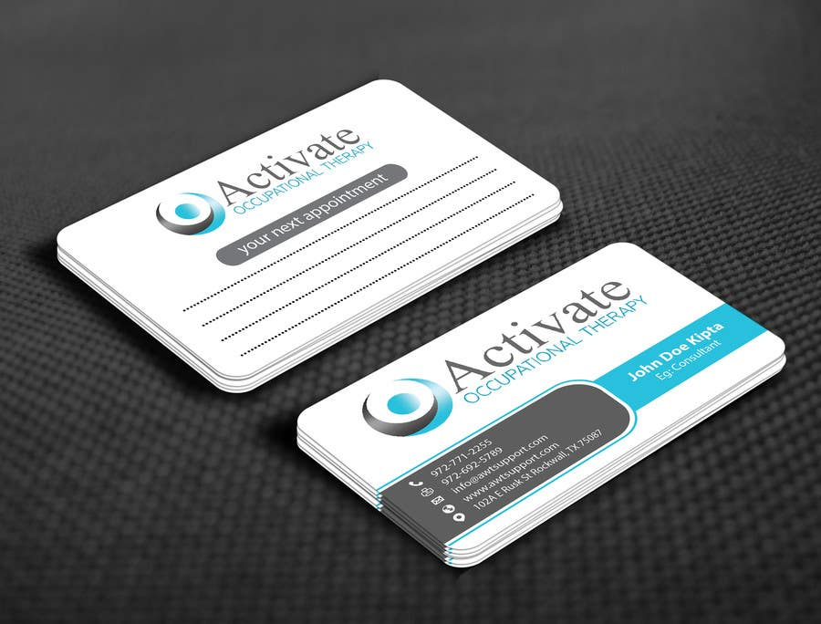 Penyertaan Peraduan #                                        56                                      untuk                                         Design some Business Cards for Activate Occupational Therapy