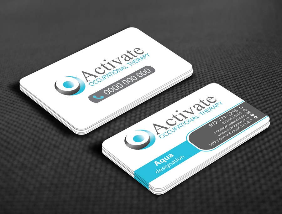 Penyertaan Peraduan #                                        62                                      untuk                                         Design some Business Cards for Activate Occupational Therapy