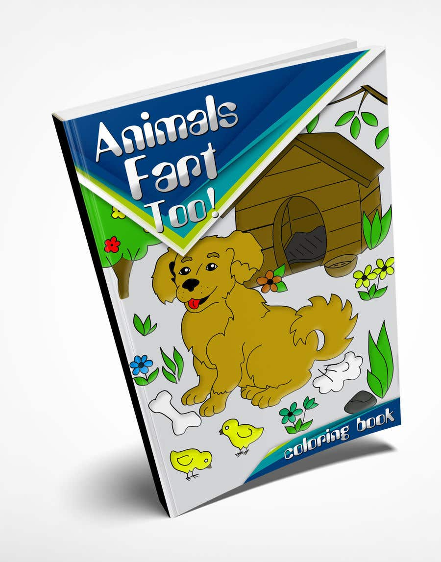 Contest Entry 24 For Animals Farting Coloring Book Cover