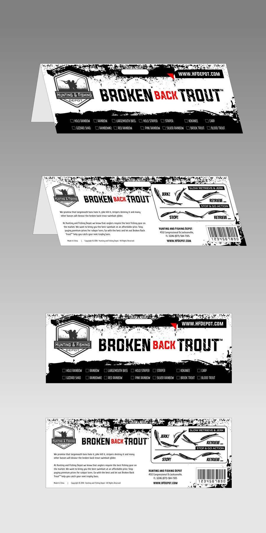 Entry #12 by Qomar for Broken Back Trout Packaging   Freelancer