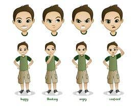 Nro 31 kilpailuun Draw a cartoon boy with 4 facial expressions käyttäjältä marciacocco