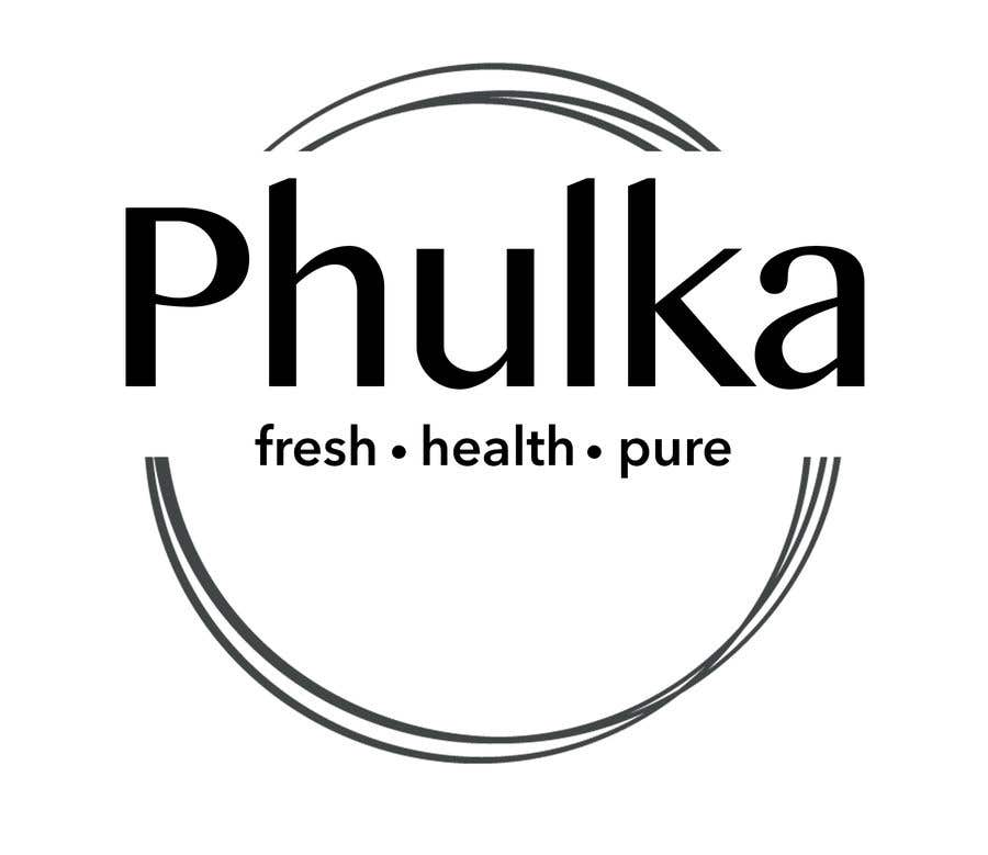 Kilpailutyö #4 kilpailussa Modern Logo design for Company selling Roti (Indian Dailily Bread). Name is Phulka (Tag line Fresh.Healthy.Pure)