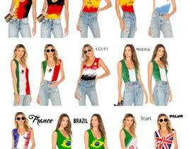 #233 for Design 10 World Cup 2018 Women T-Shirts by Stanislava2