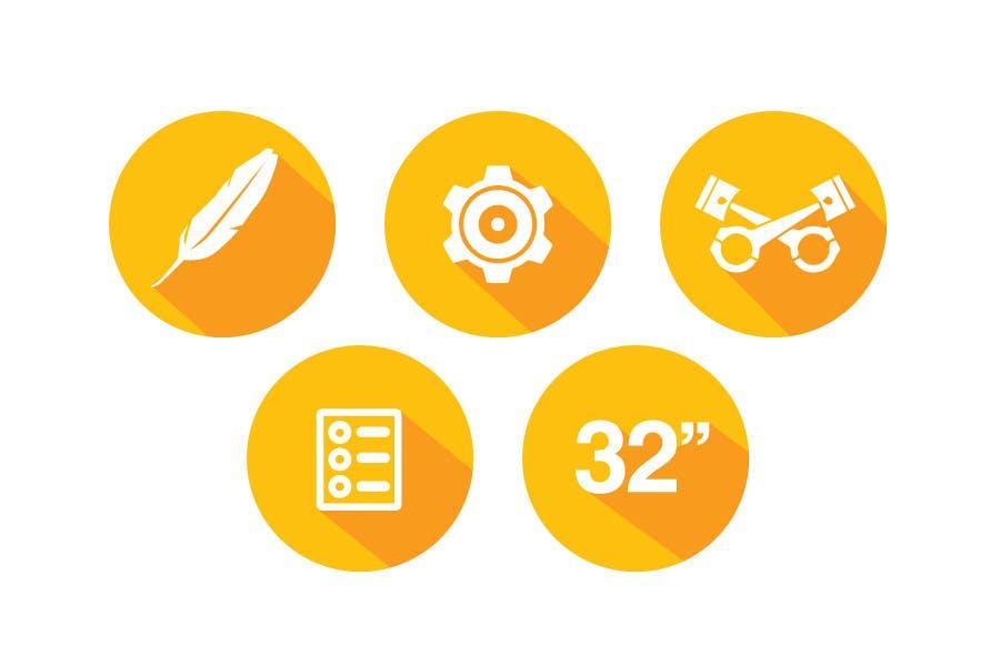 Bài tham dự cuộc thi #                                        2                                      cho                                         Design some Icons for motorsports company site