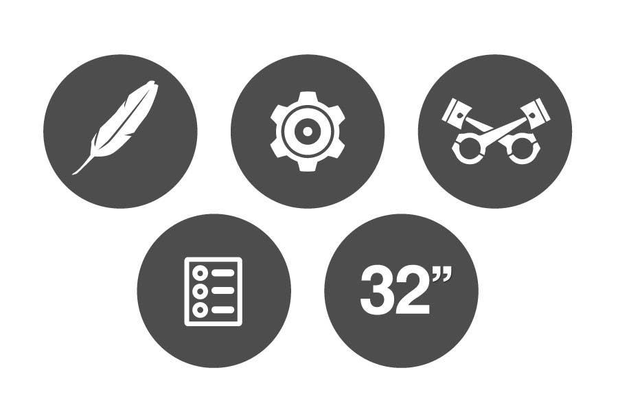 Bài tham dự cuộc thi #                                        10                                      cho                                         Design some Icons for motorsports company site