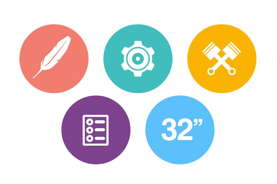 Bài tham dự cuộc thi #                                        12                                      cho                                         Design some Icons for motorsports company site