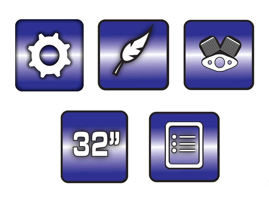 Bài tham dự cuộc thi #                                        5                                      cho                                         Design some Icons for motorsports company site