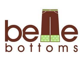#257 dla Logo Design for belle bottoms iron-on pant cuffs przez janinie