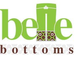 #217 dla Logo Design for belle bottoms iron-on pant cuffs przez ajimonchacko