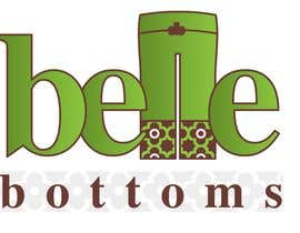 #170 dla Logo Design for belle bottoms iron-on pant cuffs przez ajimonchacko