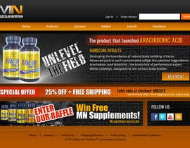 #53 para Website for Sports Nutrition Co. NO CODING / GFX ONLY por Pavithranmm