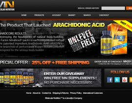 #39 para Website for Sports Nutrition Co. NO CODING / GFX ONLY por danangm