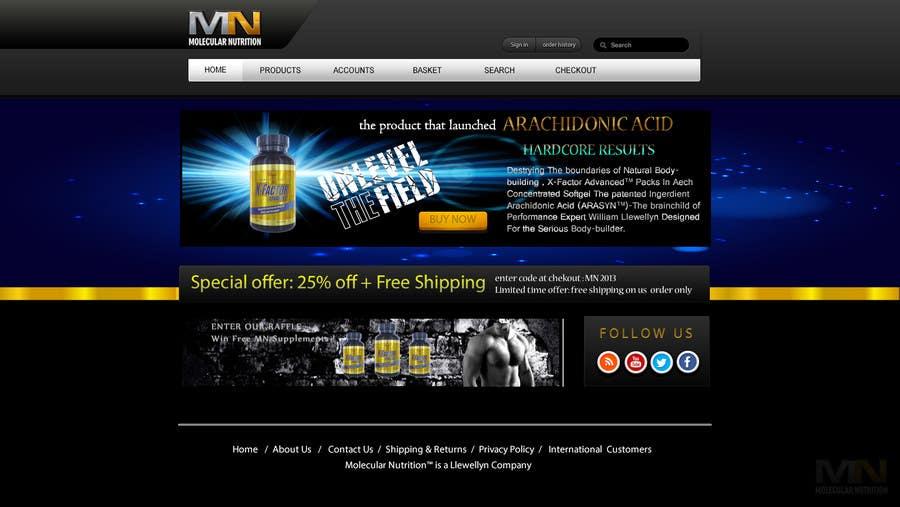 Penyertaan Peraduan #                                        42                                      untuk                                         Website for Sports Nutrition Co. NO CODING / GFX ONLY