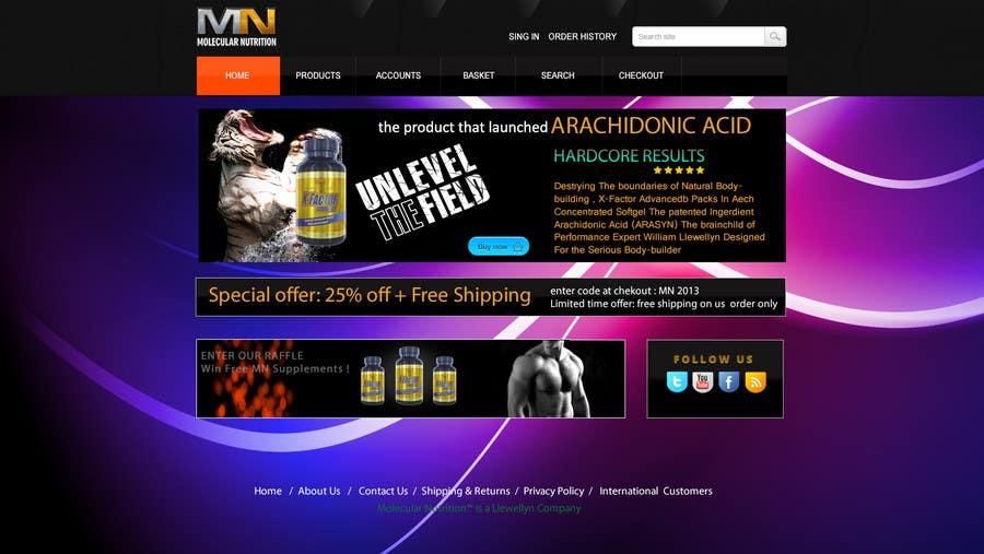 Penyertaan Peraduan #                                        14                                      untuk                                         Website for Sports Nutrition Co. NO CODING / GFX ONLY