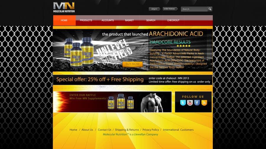 Penyertaan Peraduan #                                        27                                      untuk                                         Website for Sports Nutrition Co. NO CODING / GFX ONLY