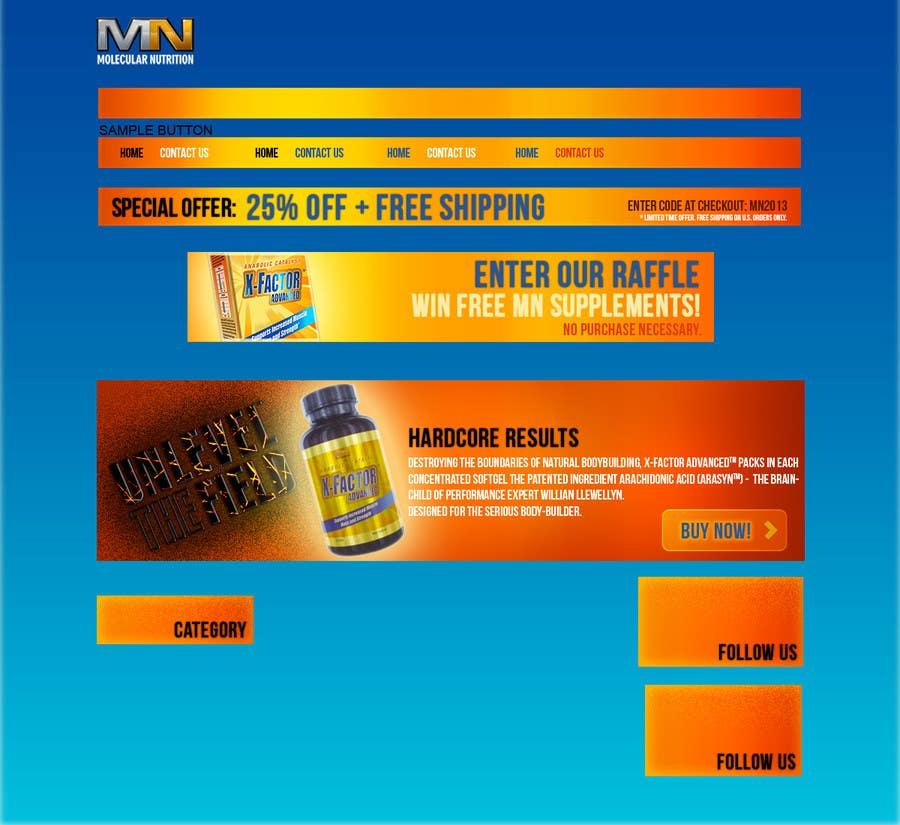 Inscrição nº                                         73                                      do Concurso para                                         Website for Sports Nutrition Co. NO CODING / GFX ONLY