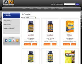 nº 69 pour Website for Sports Nutrition Co. NO CODING / GFX ONLY par julianikolaeva