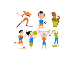 #29 for Simple sports and people graphic designs, cartoons... comics... by kazisydulislambd