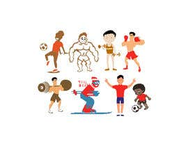 #31 for Simple sports and people graphic designs, cartoons... comics... af kazisydulislambd