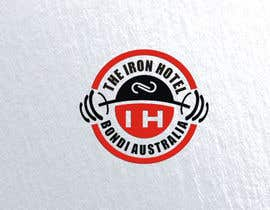 Nro 6 kilpailuun The logo is for a fake gym:  The Iron Hotel Bondi Australia  Est1964  Inspo  - Golds Gym - Muscle beach (Venice beach, CA) - Globo Gym (dodgeball) - 1980s Miami Vice   To be printed on tshirts and a big poster käyttäjältä timakoncept