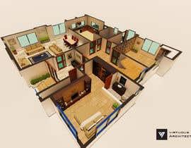 Nro 15 kilpailuun I need some Graphic Design: 3D rendering of the attached plan käyttäjältä ArchitectureFX