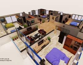 Nro 21 kilpailuun I need some Graphic Design: 3D rendering of the attached plan käyttäjältä ArchitectureFX
