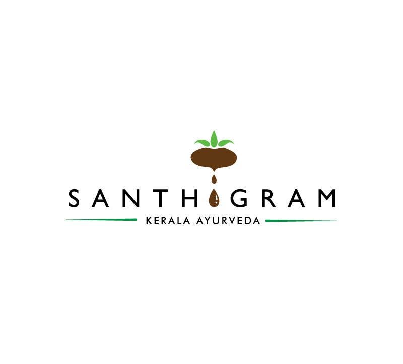 Конкурсная заявка №36 для Logo Design for Santhigram Kerala Ayurveda