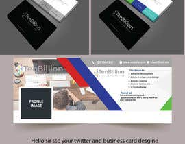 #1 dla Business card and twitter cover design przez babul881