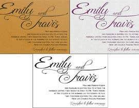 #13 for Design my wedding invitation af Sandufus