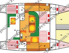#4 for I need some Graphic Design - Boat Layout Diagram by JubairAhamed1