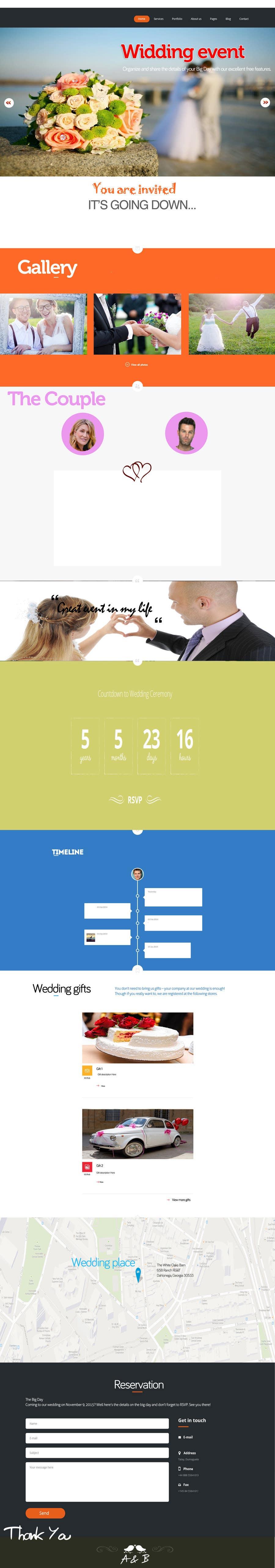 Penyertaan Peraduan #                                        6                                      untuk                                         Wedding design - one page template
