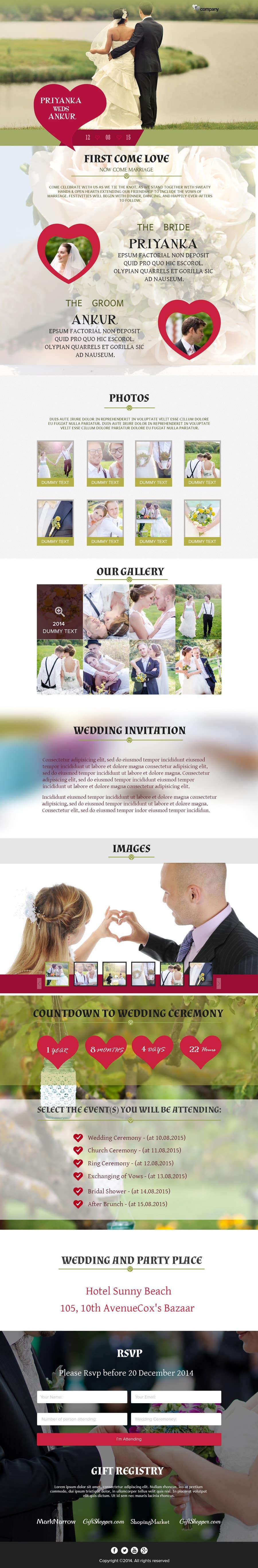 Penyertaan Peraduan #                                        4                                      untuk                                         Wedding design - one page template