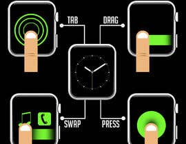 #14 cho Graphic images for touch interaction on a smartwatch bởi iamrohitc